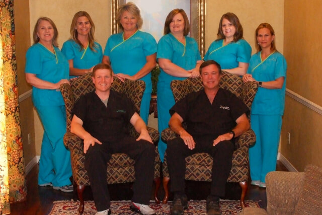 Group staff photo of the Cornerstone Dental Care team